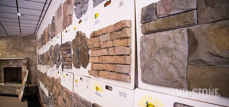 synthetic stone display